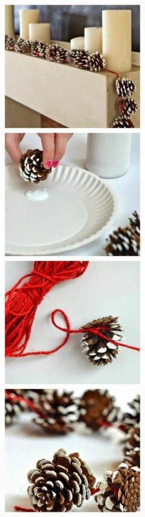 decoración piñas navidad