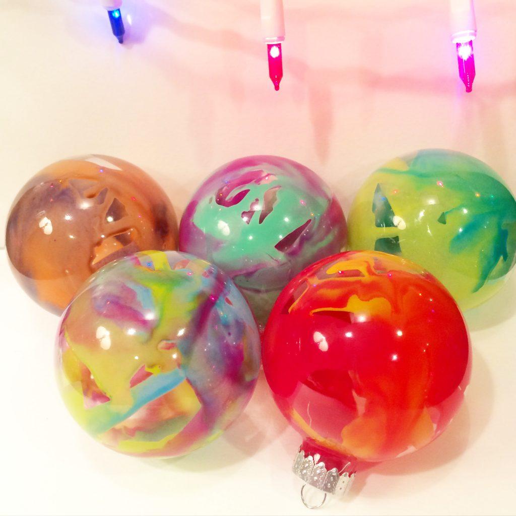 bolas de navidad con cera