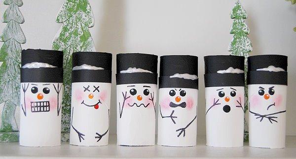 manualidades navidad rollo papel