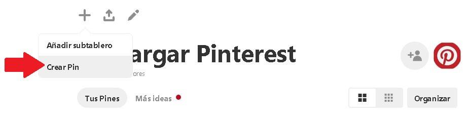 subir imagenes pinterest